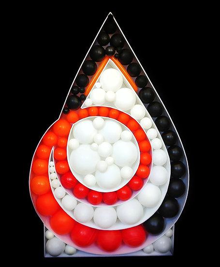 Логотип из воздушных шаров Аэромозайка в Сочи