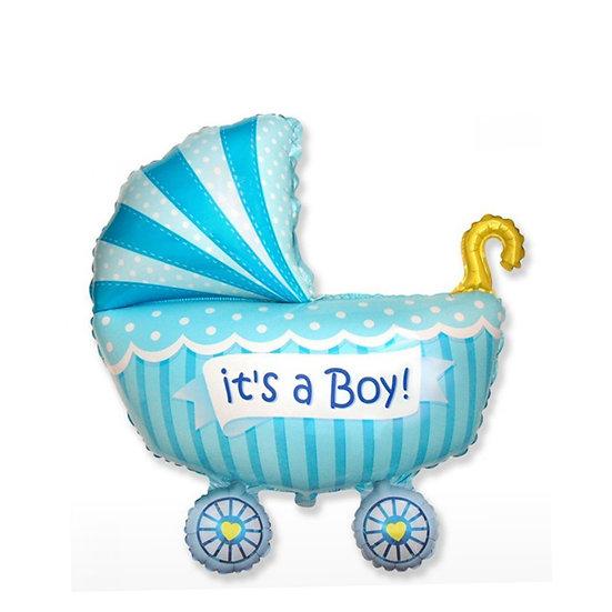 Шар коляска на выписку мальчика из роддома в Сочи