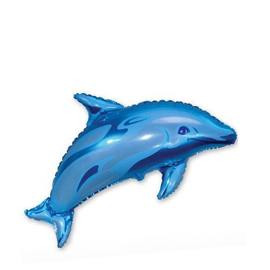 Дельфин 95 см с гелием и лентой