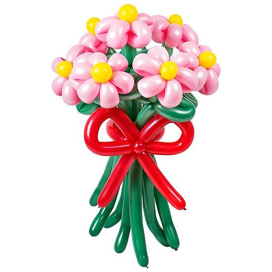Букет розовых ромашек из шариков с доставкой по Сочи