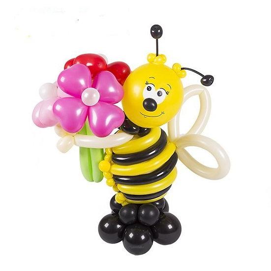 Пчёлка из шариков с цветочками в Сочи