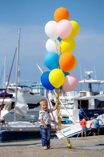 Фонтан воздушных шаров ассорти в Сочи