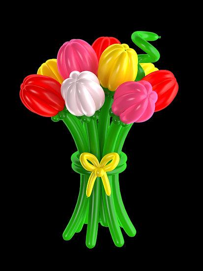 Тюльпаны из воздушных шаров доставим по Сочи