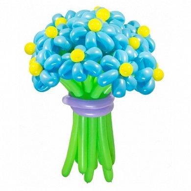 Голубой букет из воздушных шариков в Сочи