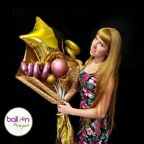 Крафт-букет из воздушных шаров на день учителя