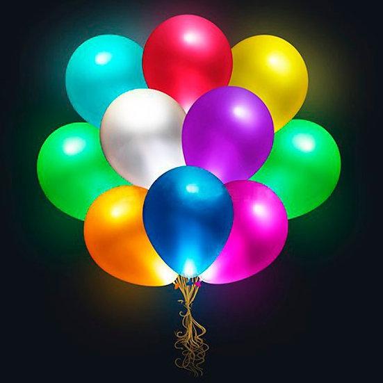 Шары с разноцветными светодиодами 30 см