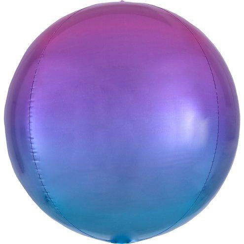 Cфера 41 см градиент фиолетовый с гелием и лентой