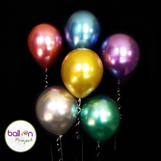Хромированные воздушные шары с металлическим блеском
