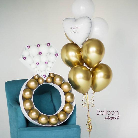 Кольцо из воздушных шаров с доставкой по Сочи