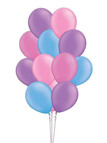 Сет гелиевых шаров Клубничное небо Сочи на выписку