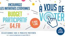 Budget participatif 64 : à vous de voter !