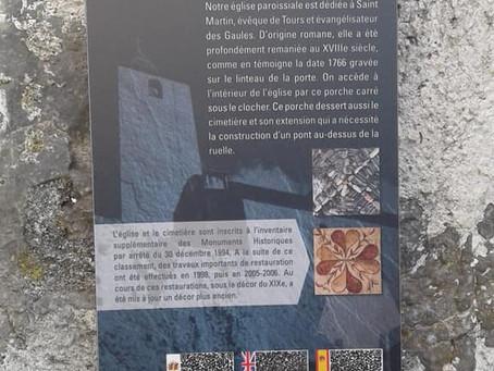 Les premiers panneaux du circuit des richesses du village sont posés. Aydius va vous raconter son hi