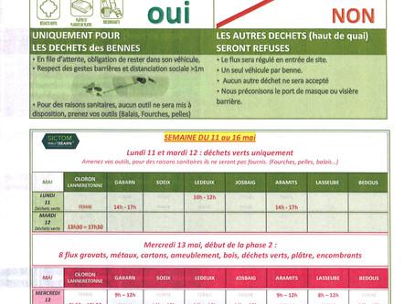 La déchetterie continue sa réouverture progressive : les 11 et 12 mai pour les déchets verts uniquem