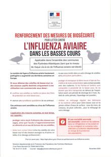Renforcement des mesures de biodiversité pour lutter contre l'Influenza Aviaire dans les ba