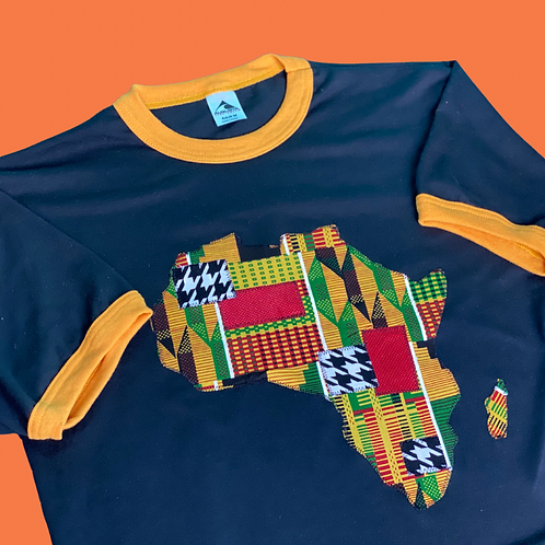 Africa Patch Ringer T-Shirt