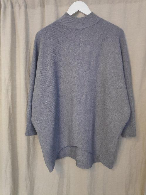 Dip Hem Knit - Grey