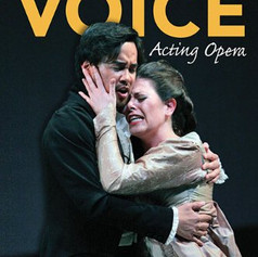 """The final scene from Tchaikovsky's Eugene Onegin, used as for the cover of Stage Director Leon Major's book """"The Empty Voice""""."""