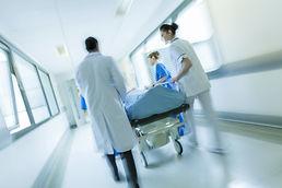 Krankenhaus-Flur
