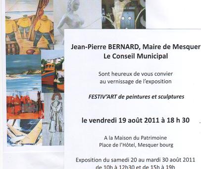 FESTIV'ART DE PEINTURES & SCULPTURES - MESQUER (44)