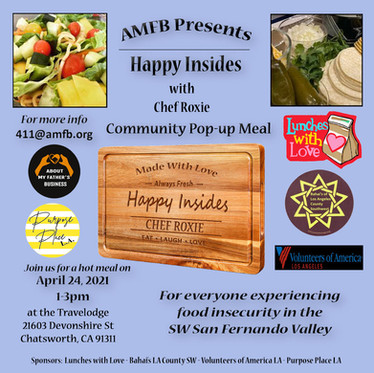 NEWS: Our First Monthly Pop-up Hot Meal April 24th, 2021