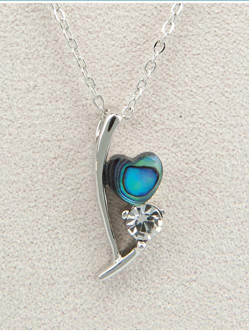 Glacier Pearl Ribbon of Love Pendant
