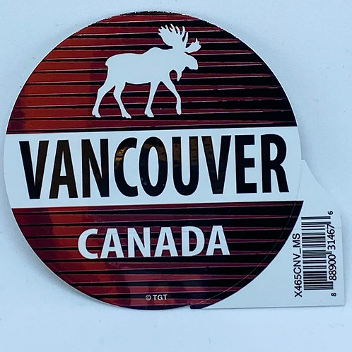 Chrome Circle Moose Sticker