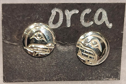 Orca (Killer Whale) Stud Earrings