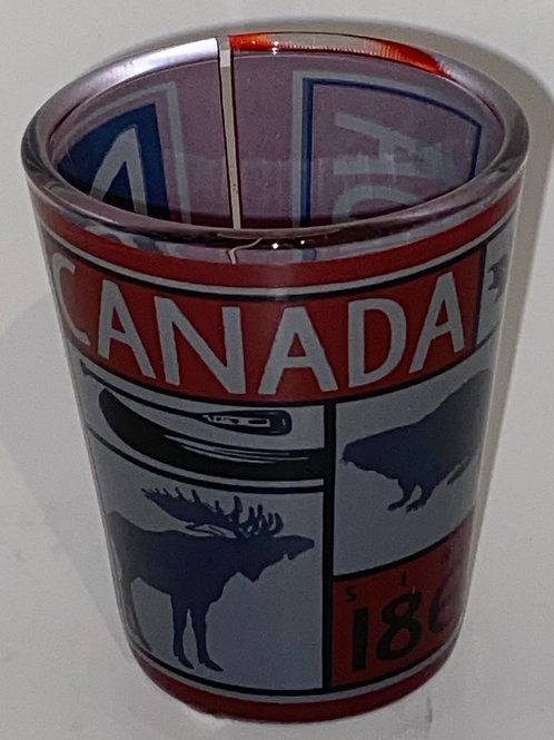Canadian Icons Shot Glass