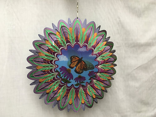 Animated Monarch Butterfly Wind Spinner