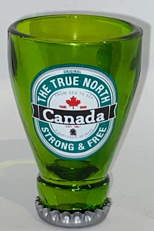 Green Bottle Shot Glass