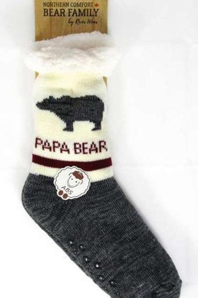 "Papa Bear ""Sherpa-Lined"" Socks"