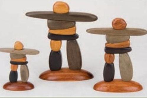 Wood Inukshuk  (3 Sizes)
