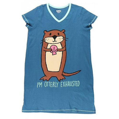 Sleep Shirt - I'm Otterly Exhausted