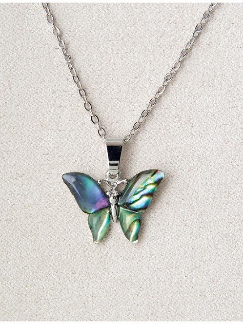 Glacier Pearl Butterfly Pendant