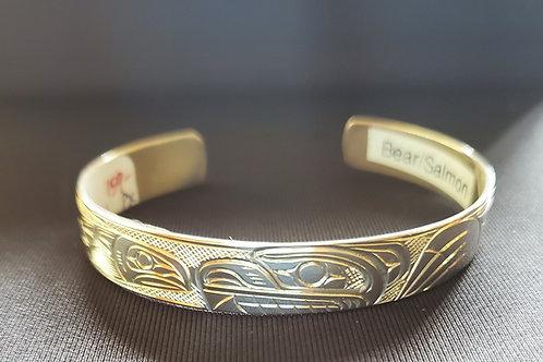 Bear & Salmon Bracelet - 3/8 Inch