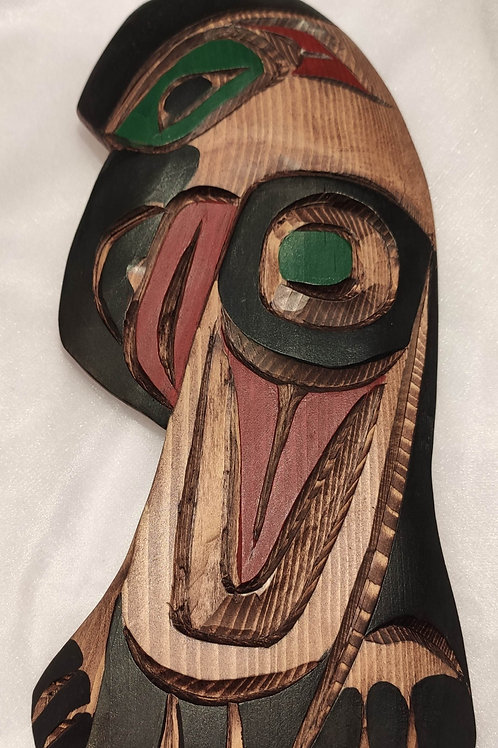 Raven Wood Carving