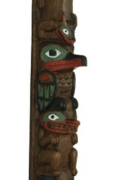 13 Inch Painted Totem