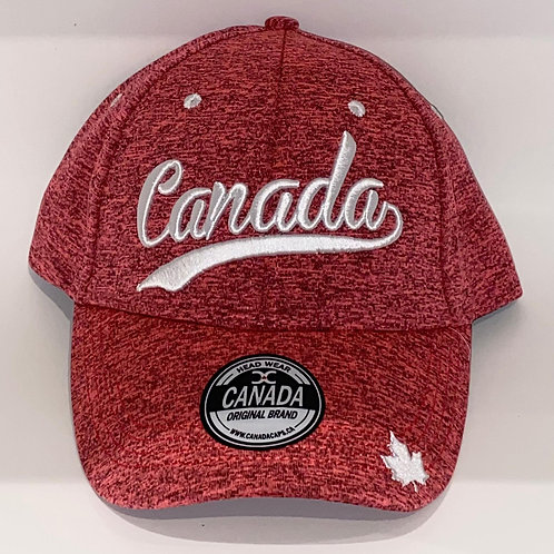 Moisture Wicking Hat w/ Canada Script Font