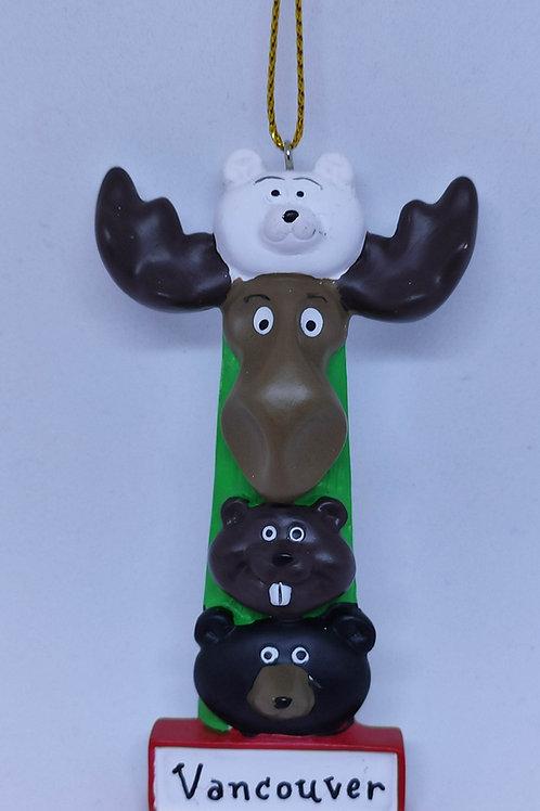 Animal Totem Pole Ornament