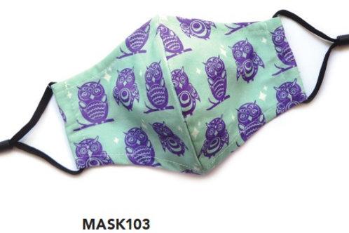 Face Mask - Kids Owls