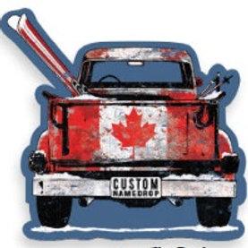 Canadian Ski Truck Magnet