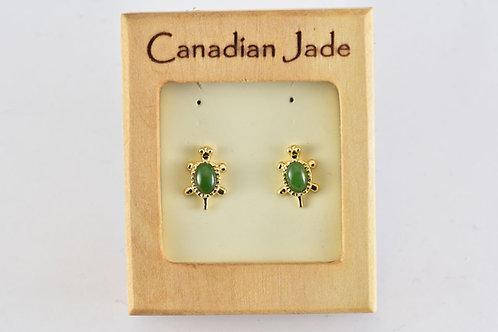 Jade Turtle Earrings