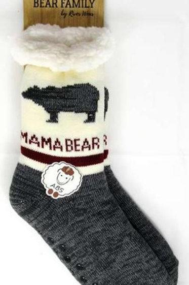 "Mama Bear ""Sherpa-Lined"" Socks"