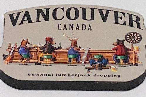 Lumberjack Falling Magnet