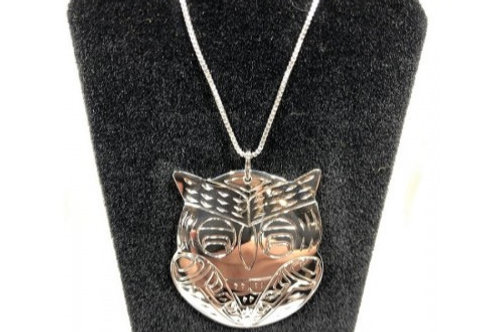 Owl Pendant (L) with Chain