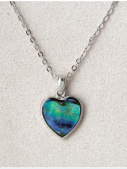 Glacier Pearl Framed Heart Pendant