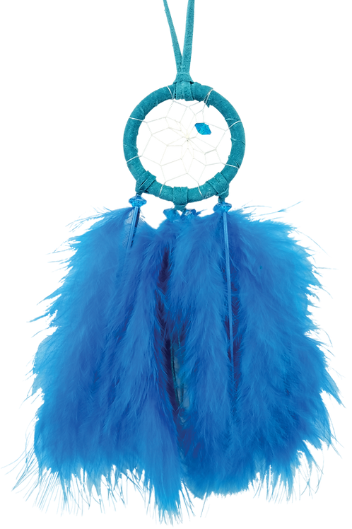 Dream Catcher w/ Fluffy Feathers - 1.5 Inch