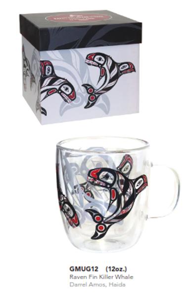 Double Walled Glass Mug - 12 oz