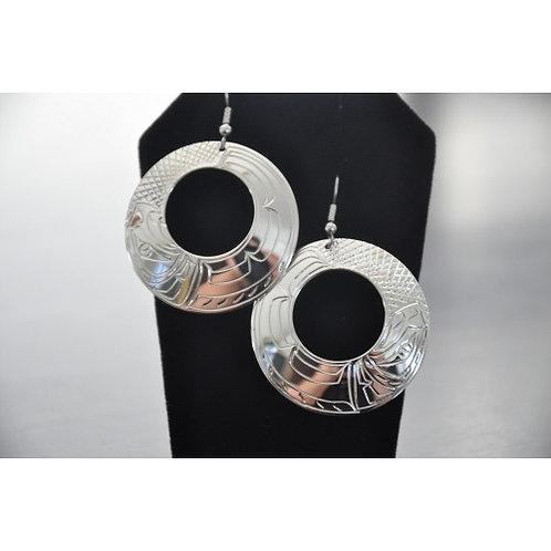 Eagle Hoop (L) Earrings