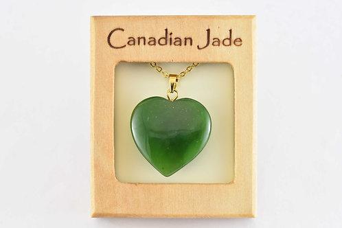 Jade Heart Pendant (L)